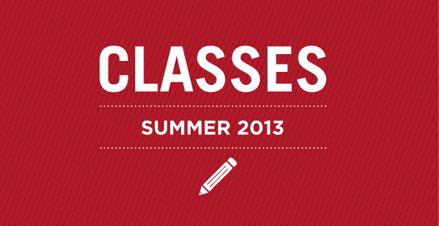Gail M Reid Classes: Summer 2013